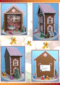 Gingerbread dollhouse tutorial - AIM Imag Issue 39 Special Project supplement...