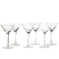 Etched Mini Martini - set of 6