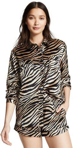 e9d0c9caa3e54 Anine Bing Vivienne Silk Pajama Shirt  Vivienne Bing Anine