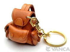 Backpack 3D Leather KeychainL VANCA Made in Japan by VANCACRAFT