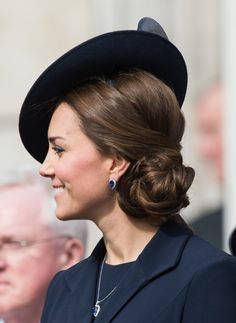 The Chic Tilted Hat/Chignon Combo