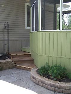 patio and planter