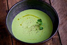 waterkers en peren soep