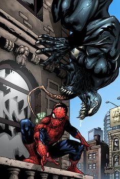 Spider-man Venom color Marvel by gabrielguzman