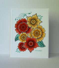 Hello and happy Sunday to you! I've been playing around with one of my new Altenew purchases which has been on my inky wish list for . Flower Stamp, Flower Cards, Pretty Cards, Cute Cards, Mehndi, Origami Cards, Doodle Designs, Henna Designs, Flower Art Drawing