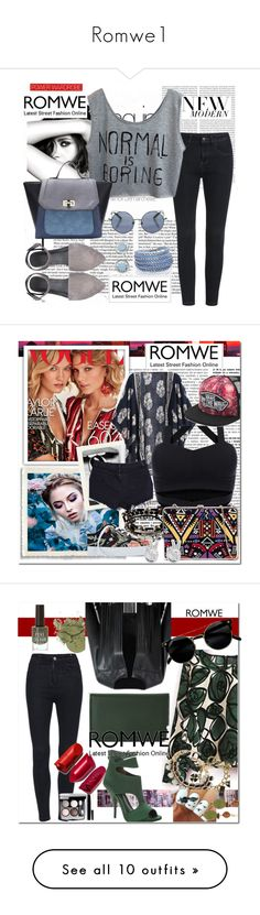 """Romwe1"" by mila96h ❤ liked on Polyvore featuring romwe, Chanel, Oris, Linda Farrow, Sif Jakobs Jewellery, House of Harlow 1960, vintage, Urban Decay, Vanessa Bruno and RHYTHM"
