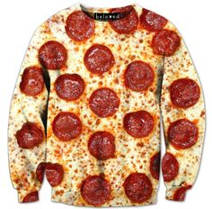 This pepperoni pizza sweatshirt was made possible by printmaking.