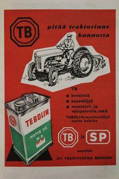 vanhoja mainoksia maatalous kalenterista vuodelta 1957 :) | Kuvakuja.fi