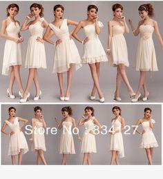 Vestidos de dama de honor cortos 2015