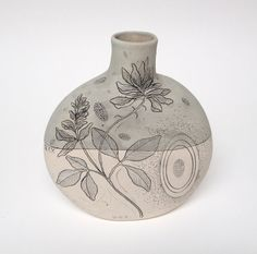 Pale Sage Handmade #Pottery Canteen Vase with by DianaFayt #Ceramics, $240.00