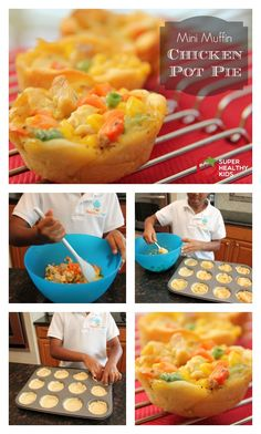 Kids Cooking Hack: Muffin Tin Pot Pie - Kids cooking hack recipe! And a great way to serve your favorite dishes in fun, bite sized portions. http://www.superhealthykids.com/kids-cooking-hack-muffin-tin-pot-pie/