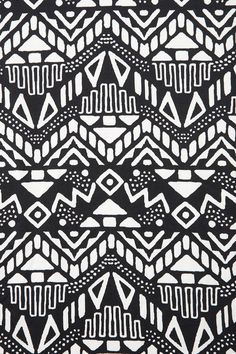 Black and white monochromatic tribal aztec pattern