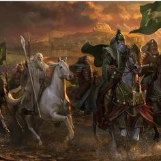 Gandalf rides towards Helm's Deep with Theoden Art design for Helm's Deep expansion for the Lord of the Rings Online (LotRO) Gandalf, Legolas, Hobbit Art, The Hobbit, Lord Of The Rings Tattoo, The Lord Of The Rings, Helms Deep, Minas Tirith, J. R. R. Tolkien