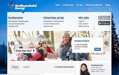 We had the honor of developing Gudbrandsdal Energis web page!