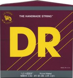 DR Strings Nickel Lo-Rider 5 String Bass Medium .130 Low B (45-130) by DR Strings. $28.08. Lo-Rider nickel-plated bass strings are based upon hexagonal cores, wound with nickel-plated steel, specifically designed for a softer feel and a traditional warm nickel sound. These bass strings are even, long lasting, and loud with a mid-range growl. An excellent string for fretless basses Lo-Riders love to funk!