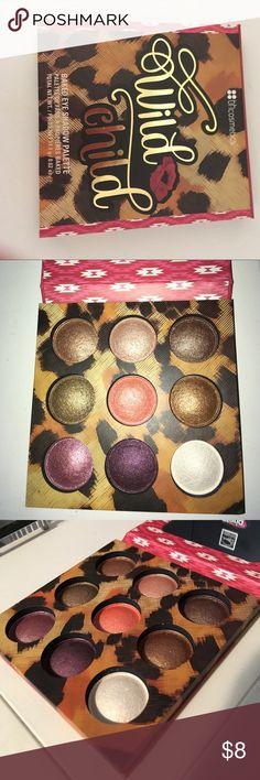 bh cosmetics wild child palette 9 metallic shades, never used! Makeup