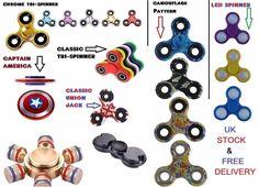 UK STOCK All Type Hand Spinner Focus Ultimate Spin EDC Bearing Stress Toys