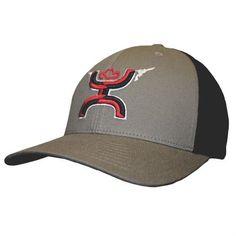 Hooey Hat - 'Gunner' Roughy FlexFit Hat - Grey/Black, http://www.amazon.com/dp/B01DAXDSOI/ref=cm_sw_r_pi_awdm_x_I.oSxb3R5D5E2