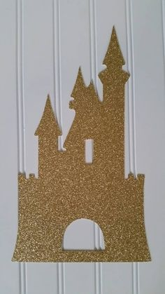 Gold Glitter castle  Check out this item in my Etsy shop https://www.etsy.com/listing/260596158/princess-castle-die-cut-princess