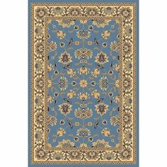 """New Vision Light Blue Kashan Rug Rug Size: 2' x 2'11"""" by Rugs America. $36.00. 22462 Rug Size: 2' x 2'11"""" Features: -Technique: Power loomed.-Material: 100pct Heat set Polypropylene / Olefin.-Soil, stain and fade resistant. Construction: -Construction: Machine made. Dimensions: -Pile height: 0.5''.-Overall Dimensions: 35-158'' Height x 24-118'' Width x 0.5'' Depth. Collection: -Collection: New Vision. Warranty: -1 year limited Mfg warranty."""