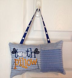 Shop for on Etsy, the place to express your creativity through the buying and selling of handmade and vintage goods. Tooth Pillow, Tooth Fairy Pillow, Teeth, Diaper Bag, Gym Bag, Pillows, Trending Outfits, Unique Jewelry, Handmade Gifts