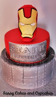 Iron Man - Cake by Sassy Cakes and Cupcakes (Anna)