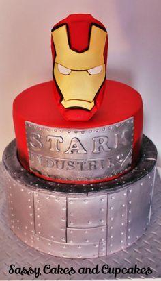 Iron Man - Cake by Sassy Cakes and Cupcakes (Anna)