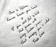 True love ..