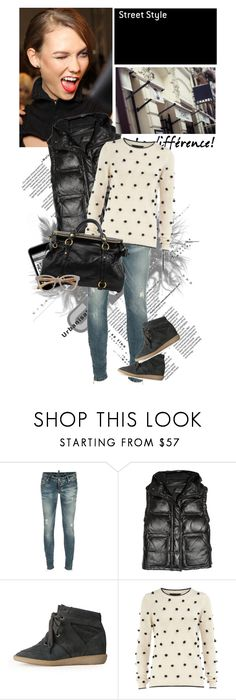 """""""Viva la difference!"""" by vexybabe ❤ liked on Polyvore featuring Dsquared2, Isabel Marant, Chanel, Dorothy Perkins, Miu Miu, Linda Farrow, skinny jeans, sneakers, isabel marant and vests"""