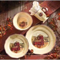 yellow+green+brown+dinnerware   Japan China Old Mill Scene 46pc Dinnerware Set Country River Scene ...   Inspiring Ideas   Pinterest   Dinnerware & yellow+green+brown+dinnerware   Japan China Old Mill Scene 46pc ...