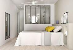 Suite parentale : Une verrière pour séparer l\'espace chambre de l ...