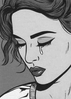 New pop art girl comic drawings ideas Pop Art Drawing, Comic Drawing, Art Drawings, Graffiti Art, Bd Cool, Bd Pop Art, Sad Paintings, Tableau Pop Art, Pop Art Wallpaper