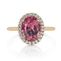 unique pink spinel; Omi Prive