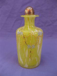 Antique Bohemian Glass Perfume Bottle