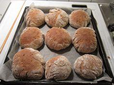 Mallas sämpylät Bread Recipes, Muffin, Breakfast, Food, Tights, Morning Coffee, Eten, Cupcakes, Muffins