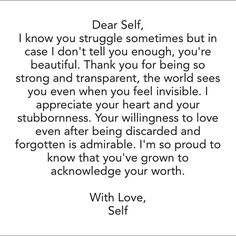 A letter to myself... <3