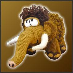 * Dies ist ein Muster GEHÄKELT und nicht die fertigen Spielzeug *    Wollten Sie schon immer eigene Mammoth haben? Du musst nicht Reisen ganz in