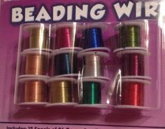 12 Pc 26 Guage Beading Wire 3 Yd Ea. (36 Yards) Crafts, Jewerly Making Scrapbook