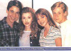 Christina Aguilera, Britney Spears, Ryan Gosling and TJ Fantini #MickeyMouseClub