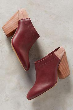 burgundy mules