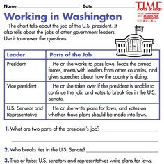 Election Printables | TIME For Kids