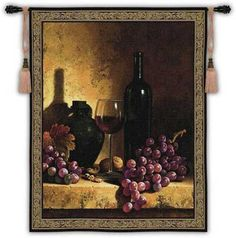 Wine Bottle tapestry - Fruit, Flora & Fauna Tapestries and Wall Hangings
