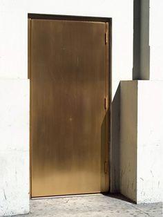 bronze/copper door