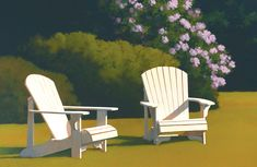 Jim Holland (1955 - Present), American Artist - Two Chairs - 26 x 40