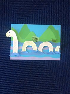 Loch Ness monster craft day at St Thomas Library. Monster Activities, Monster Crafts, Monster Art, Space Crafts For Kids, Crafts To Do, Art For Kids, Preschool Art, Preschool Activities, Dinosaurs