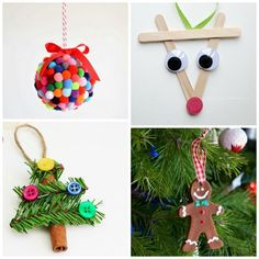 One thing that my kids look forward to each Christmas is making their own ornaments. As a mom there is nothing like having a tree covered in trinkets they have made over the years. Here are 30 ornam