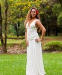 Grecian Style Corset with flowing skirt