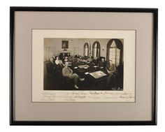 Harry S. Truman, A.W. Barkley w Full Cabinet - Signed Photograph - 1950 - Framed