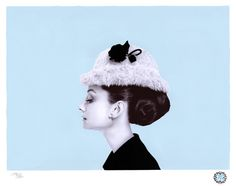Photo-realist drawing of Audrey Hepburn in pen and paint. Crazy (check out the video on the link for a time lapse of him drawing it)