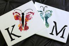 How To Make Butterfly Footprint Art - The Mommypotamus